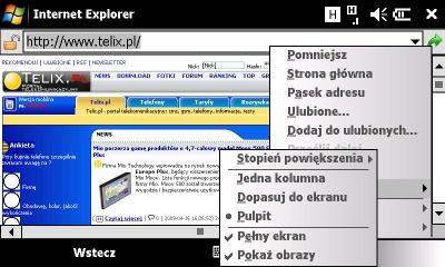 Sonyericsson Xperia internet