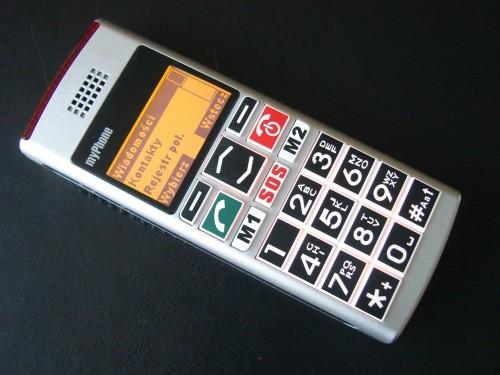 Test myPhone 1040 senior - Menu