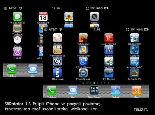 iPhone 4G - pulpit iPhone w pozycji poziomej