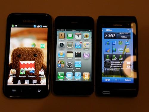 Starcie gigantów- Apple iPhone 4 vs Nokia N8 vs Samsung Galaxy S