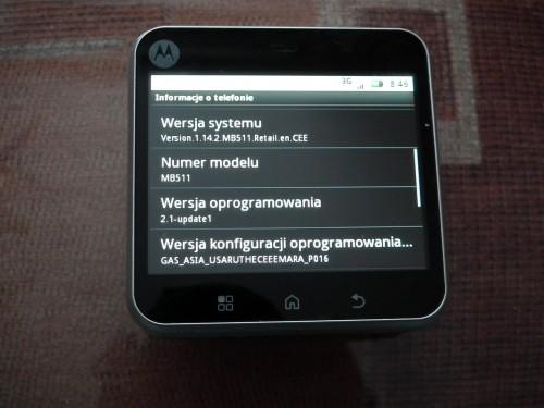 Test Motorola FLIPOUT - informacja o telefonie