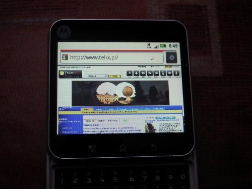 Test Motorola FLIPOUT - przeglądarka internetowa