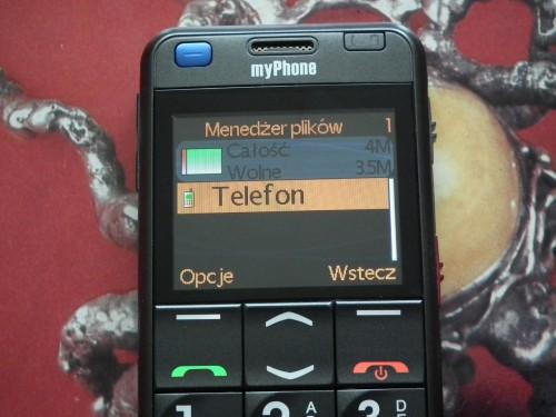 Test myPhone 1080 DURO - pamieć