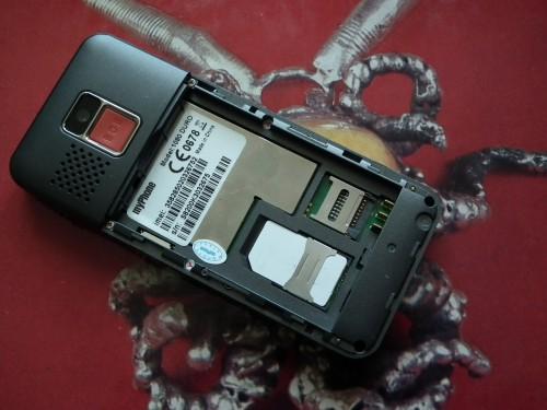 Test myPhone 1080 DURO - gniazdo microSD i karty SIM