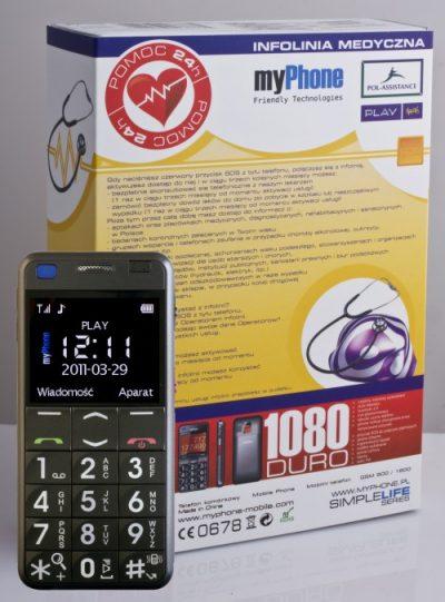myPhone 1080 z infolinią opiekuńczo-medyczną Pol-Assistance