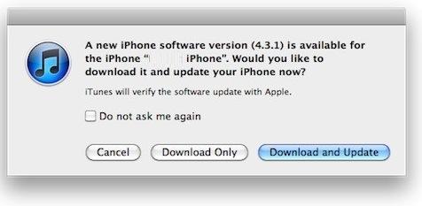 Aktualizacja iOS 4.3.1 już dostępna dla Apple iPhone, iPod oraz iPad