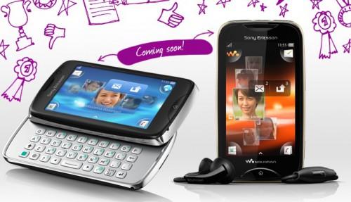 Sony Ericsson ujawnia dwa nowe modele telefonów w konkursie Facebook: txt pro oraz Mix Walkman