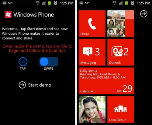 Symulator: Windows Phone 7 na iPhone i Android