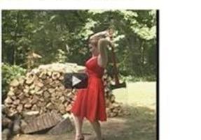 Lady with razor sharp axe