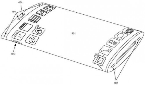 Smartfon Apple z wygiętym ekranem