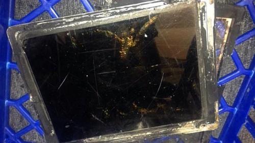 Eksplozja iPada w sklepie Vodafone