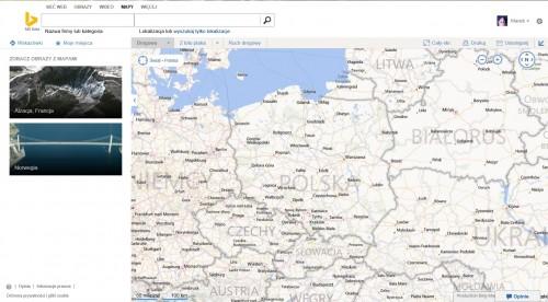 Mapy Bing dostępne w Polsce