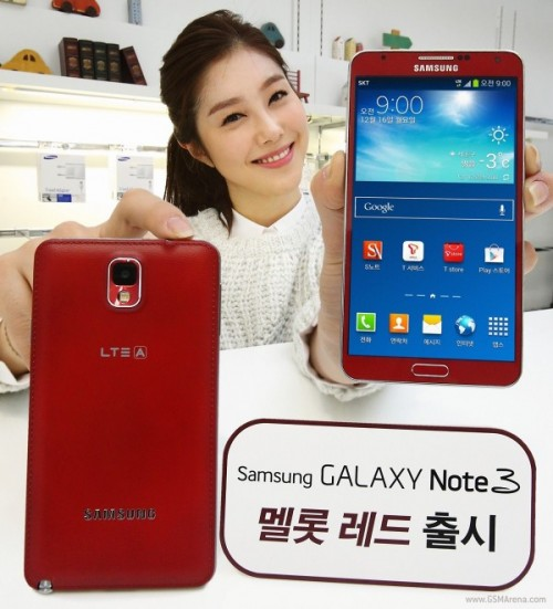 Note 3 red