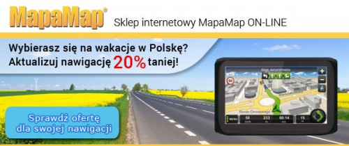 Aktualizacja mapy Polski 20 proc. taniej