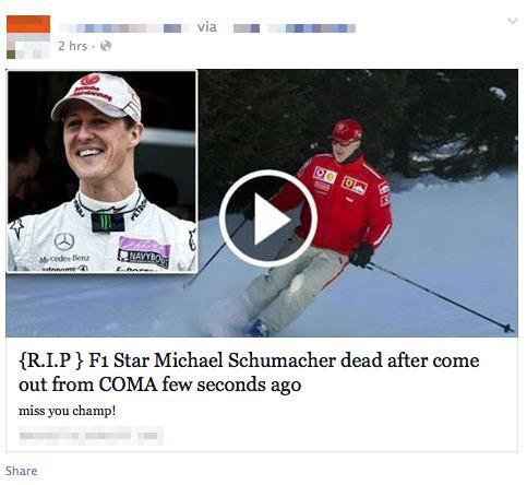 Michael Schumacher nie żyje