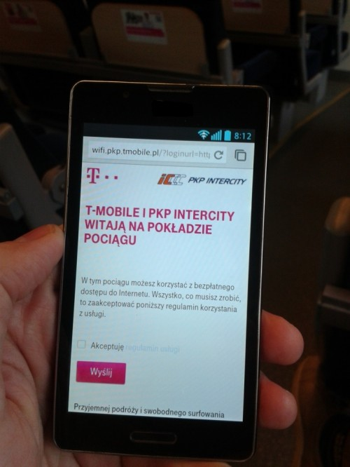 Pierwszy pociąg z bezpłatnym WiFi już na torach
