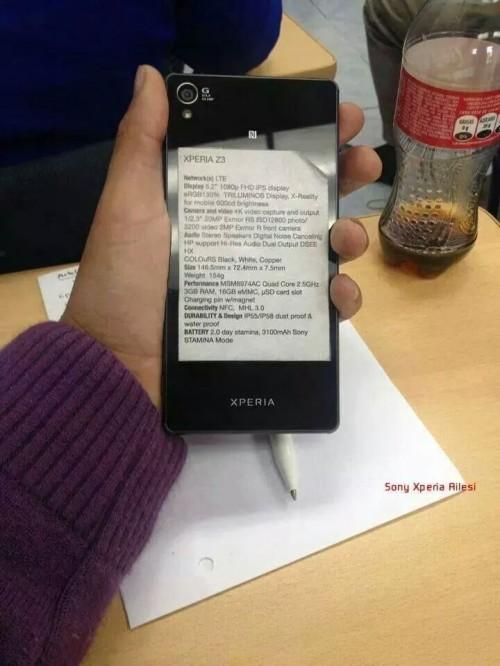 Sony Xperia Z3 specyfikacja