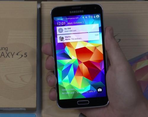 Android L na Samsungu Galaxy S5