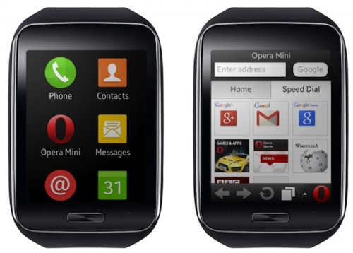 Opera Mini na zegarku Samsung Gear S