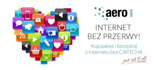 Aero2 - Internet bez Captcha od 5 zł