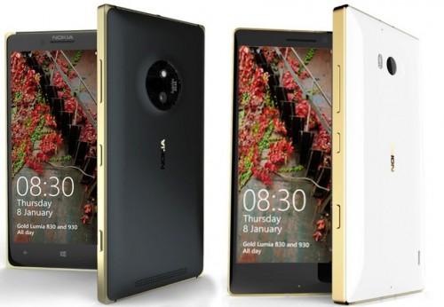 Nokia Lumia 830 i 930 Gold Edition