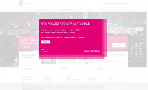 Magentowa strona GTS Poland
