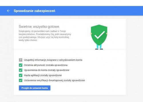 Google zabezpieczenia