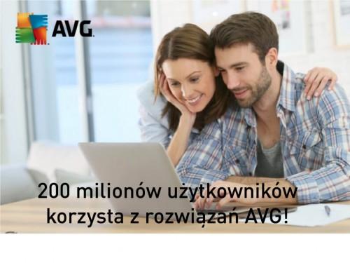 200 milionów użytkowników korzysta z rozwiązań AVG