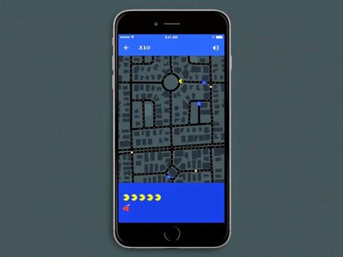 PAC-MAN w Mapach Google