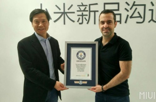 Xiaomi Rekord Guinessa