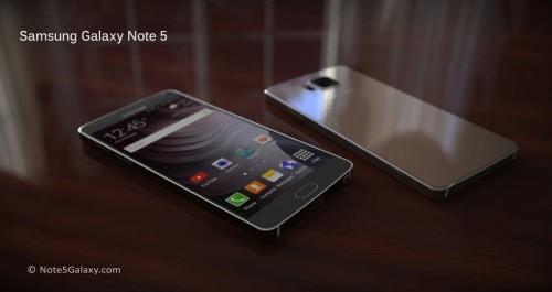 Samsung Galaxy Note 5 rendery