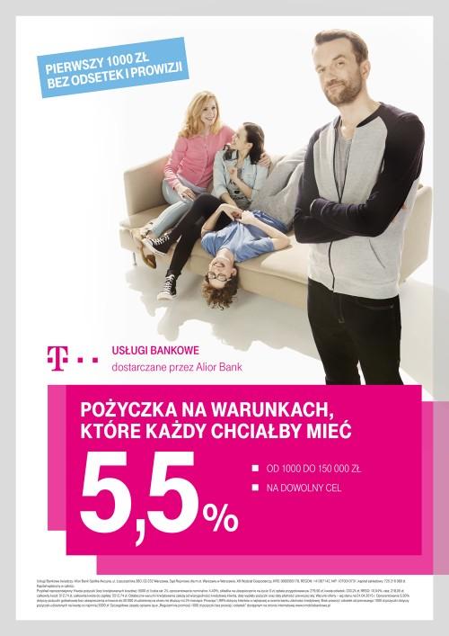 T-Mobile Usługi Bankowe - kampania promująca pożyczki gotówkowe