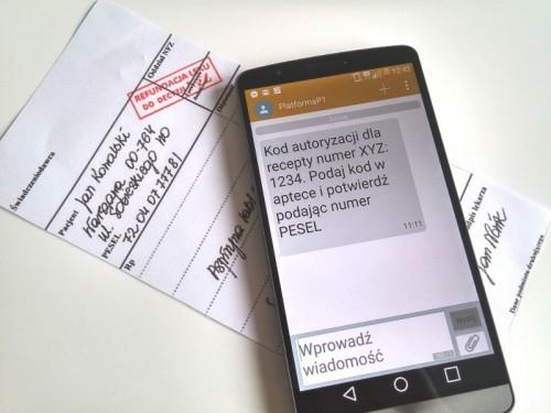 SMS zamiast papierowej recepty