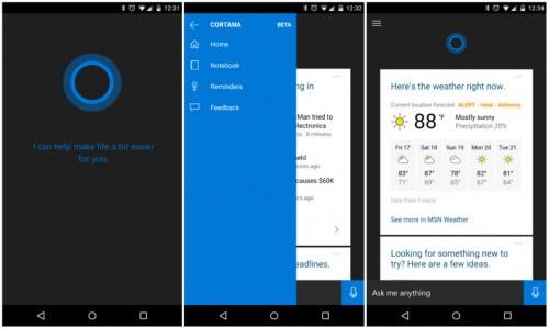 Cortana oficjalnie zapowiedziana na iOS i Androida