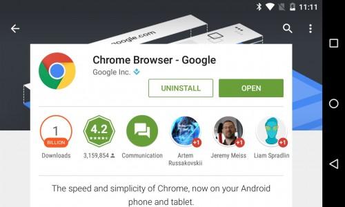 Google Chrome na  Androida