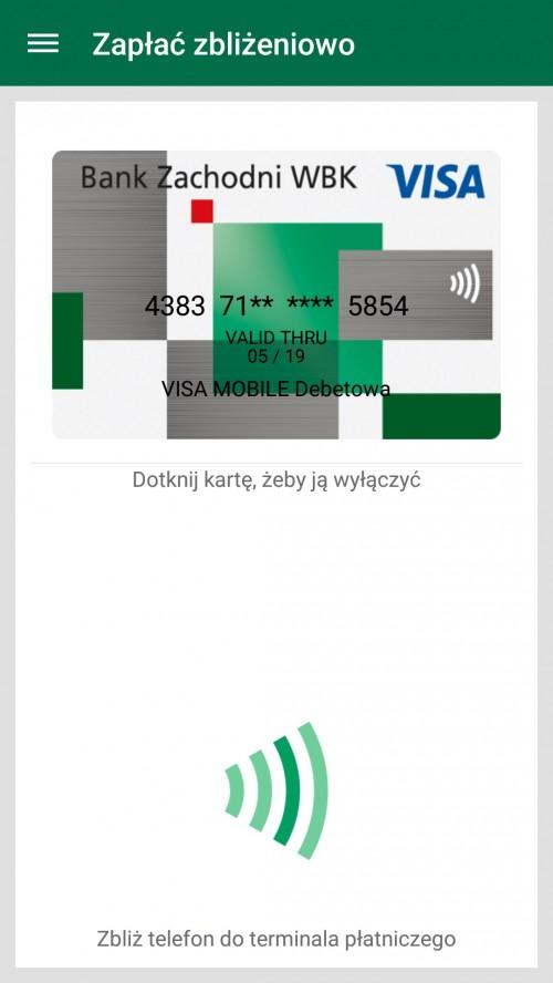 Mobilne płatności zbliżeniowe Visa w BZ WBK-2