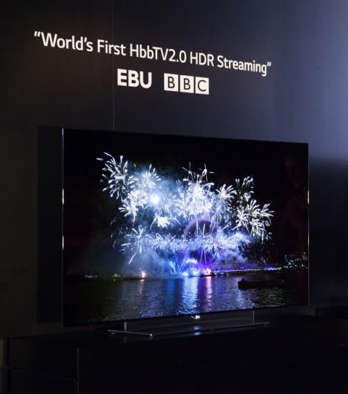 LG OLED 4K - pierwsza na świecie transmisja HDR