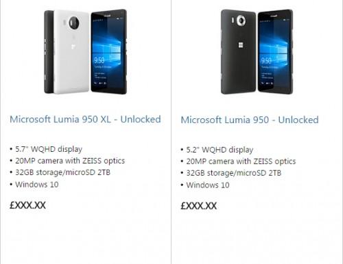 Microsoft Lumia 950 i 950 XL na renderach