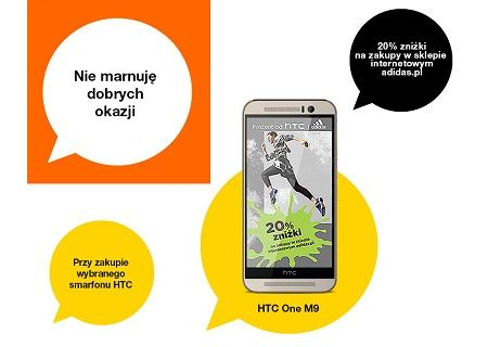 Orange - smartfony HTC ze zniżką w sklepie Adidasa