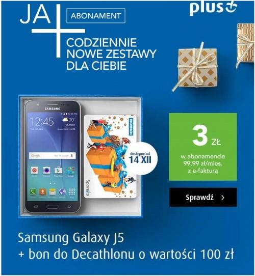 Samsung J5 + bon do Decathlonu za 100 zł