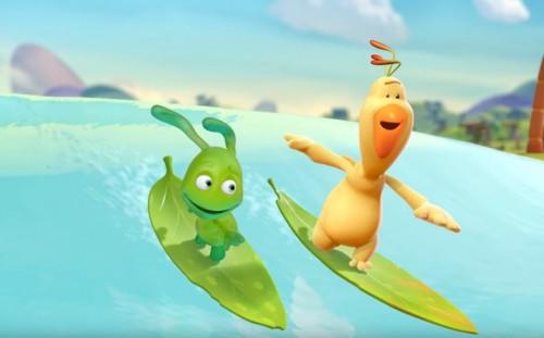 Agi Bagi - zawody w surfowaniu na liściach