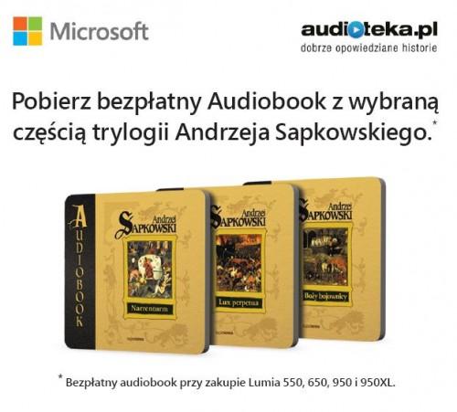 Audioteka - posłuchaj Sapkowskiego na smartfonie Lumia