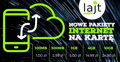 lajt mobile: nowe pakiety internetowe