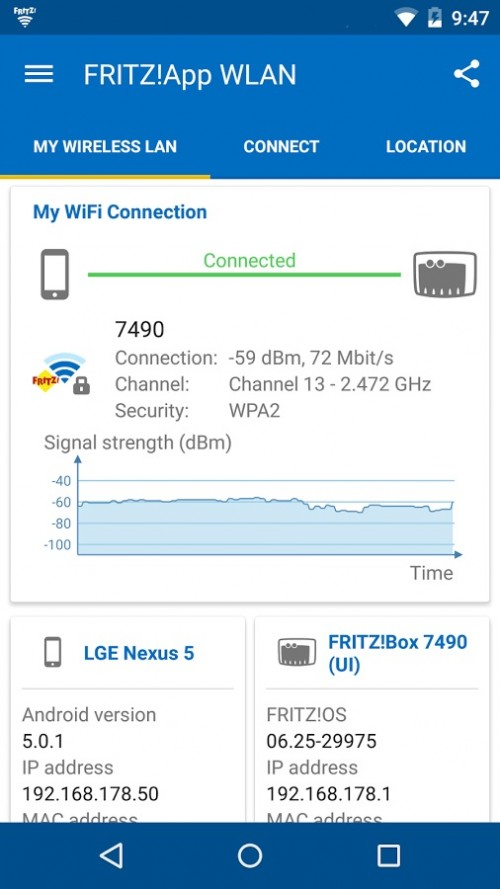 FRITZ! na iOS i Android
