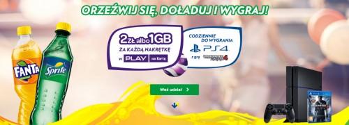 Play - 2 z? lub 1 GB za nakr?tk? z Fanty i Sprite