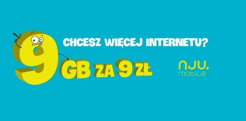 Nju.mobile - Internet 9 GB za 9 zł