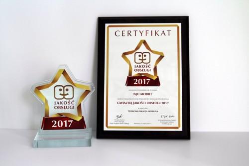 Nju.mobile - z nagrodą Jakość Obsługi