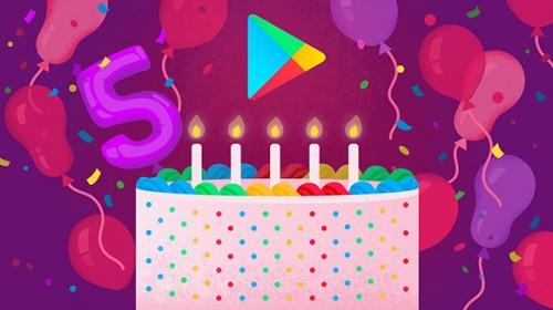 google play 5 urodziny