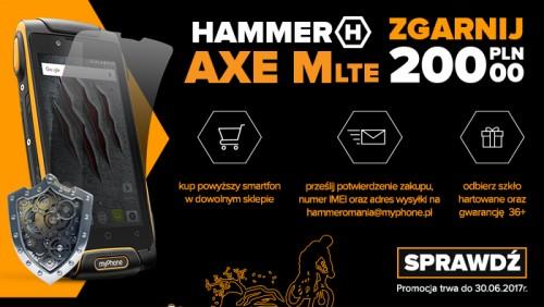 Hammer AXE M LTE - ze szkłem hartowanym