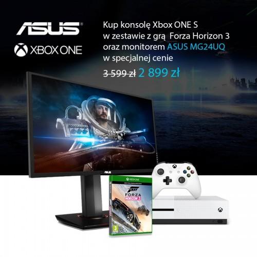Xbox One S z monitorem ASUS